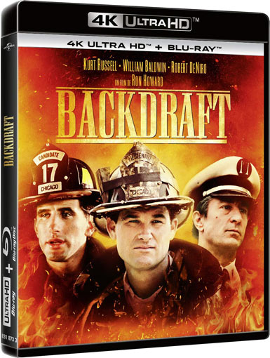 backdraft fils Blu ray 4K Ultra HD 2019 ron howard