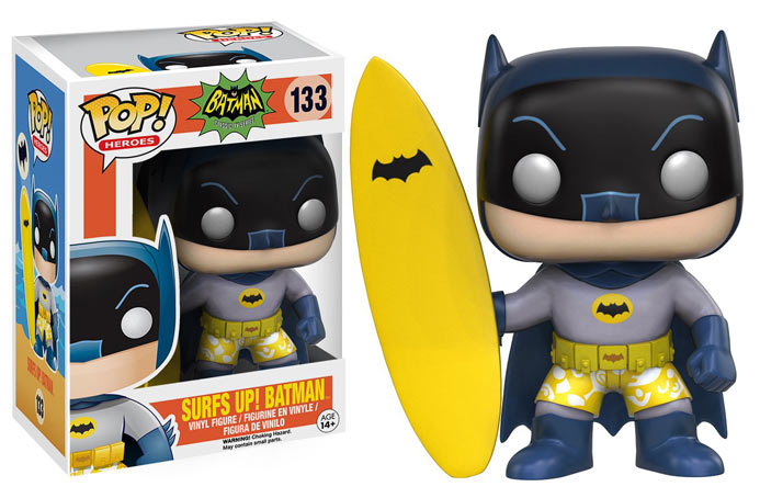 batman surf up figurine funko pop collection