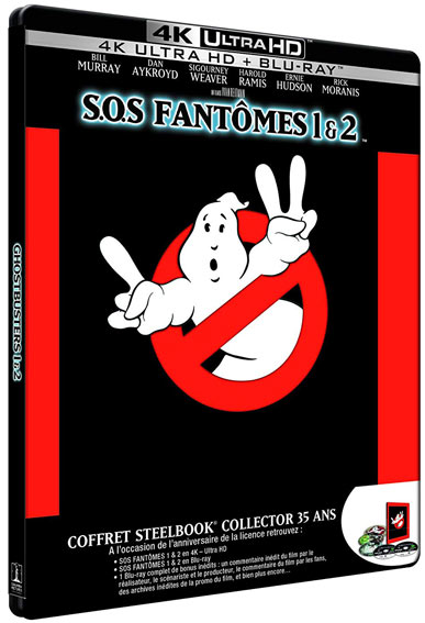 Coffret steelbook collector 4k sos fantomes ghostbusters
