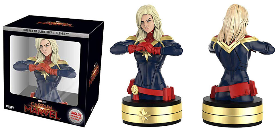 coffret collector captain marvel Blu ray 4K buste figurine