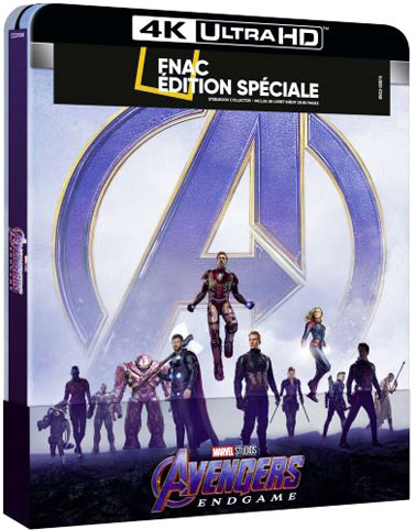 Avengers endgame steelbook collector Blu ray 4K fnac