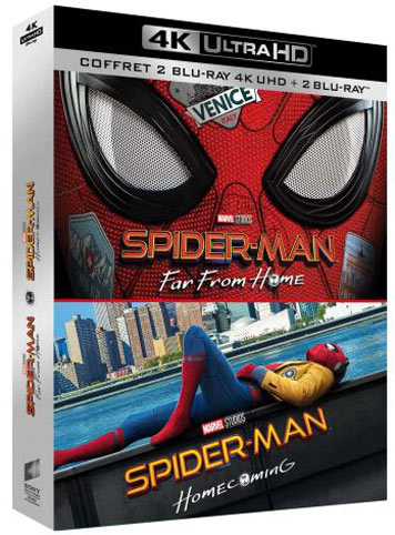 Spiderman coffret Blu ray 4K Ultra HD
