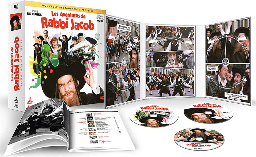 coffret collector rabbi jacob edition 2019 Blu ray DVD 4k