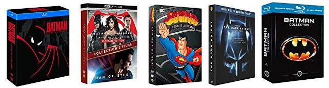 promo dc comics bluray dvd 4k 3d coffret