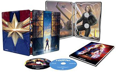 Captain Marvel Steelbook 3D 4K bluray
