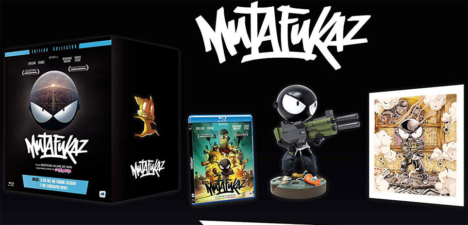 Coffret collector mutafukaz figurine Blu ray lithographie edition limitee 2019
