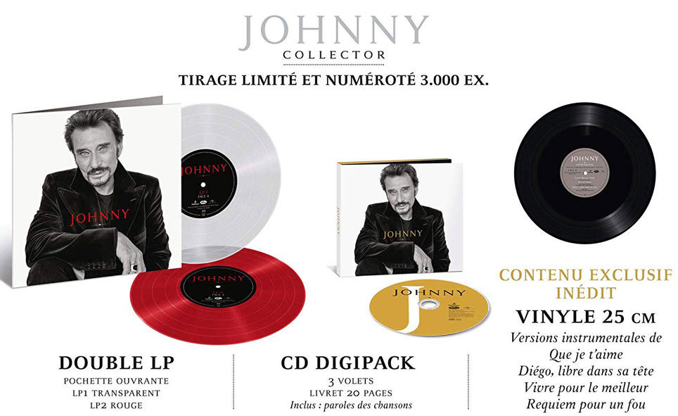 Johnny tirage limite coffret box edition collector 3 Vinyles LP CD 2019