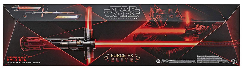 Sabrea laser Star Wars Force FX Deluxe edition Kylo Ren lightsaber black series