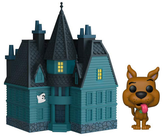 figurine deluxe scooby doo chateau hante