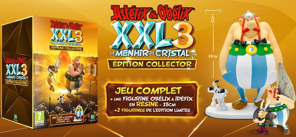 Coffret collector XXL3 Asterix obelix 2019 ps4 nintendo switch