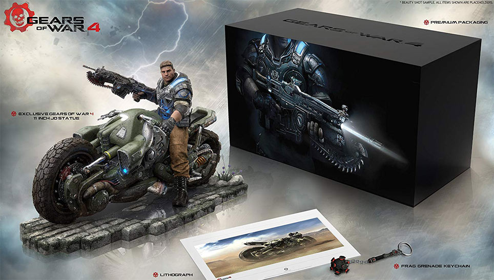 coffret edition limitee gears of war 4 figurine collector