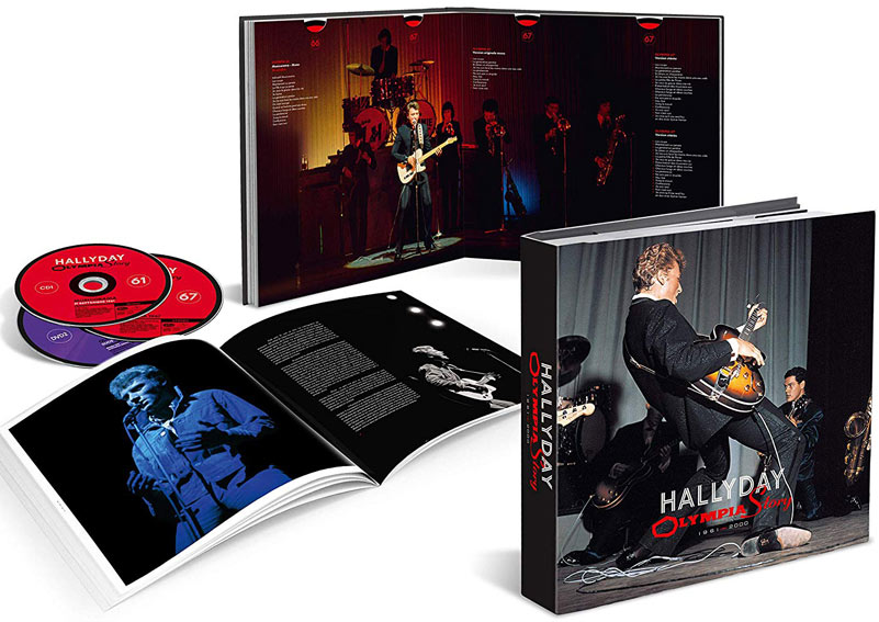 Johnny hallyday olympia story coffret cd dvd tirage limite