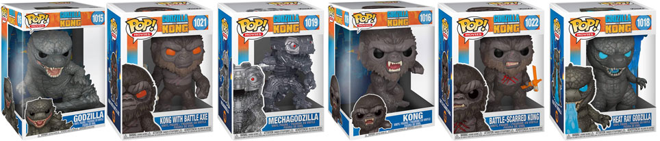 funko kong vs godzilla collection complete 2021