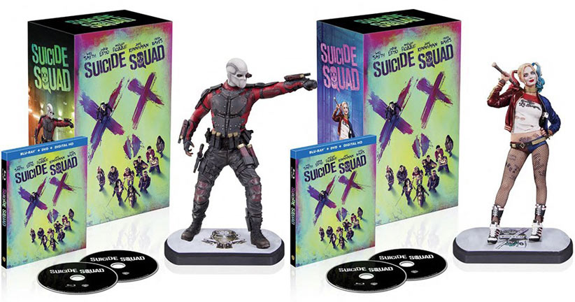 Coffret-collector-suicide-squad-figurine-Deadshot--Harley-Quinn