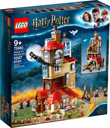 attaque maison Weasley Lego Harry Potter 75980